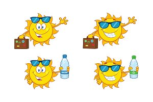 Sun Cartoon Character. Collection 25