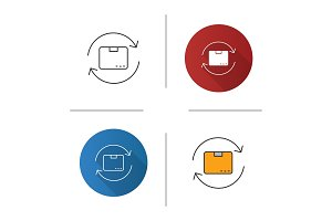 Parcel return service icon