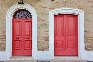 Vintage red doors