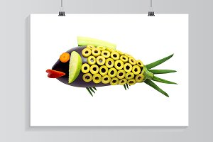 Vegetable fish.