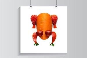 Vegetable frog.