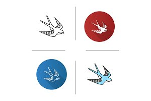 Swallow bird icon