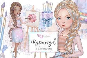 Rapunzel Clipart Set