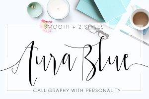 Aura Blue, Modern Calligraphy Font
