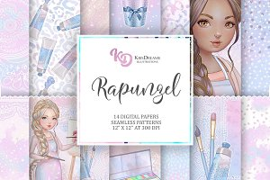 Rapunzel Digital Paper