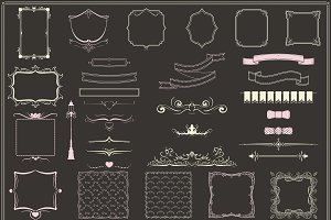 Vintage Decorative Elements Set
