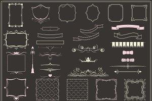 Vintage Decorative Elements Set