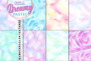 Dreamy Watercolor seamless textures