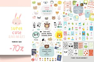 -70%OFF Cute animals BUNDLE Sale