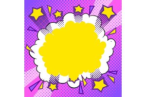 Abstract halftone background comic pop art vector