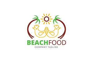 Beach Food Logo