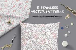 Botanical Seamless Vector Patterns