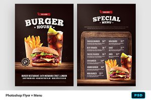 Burger Flyer + Menu