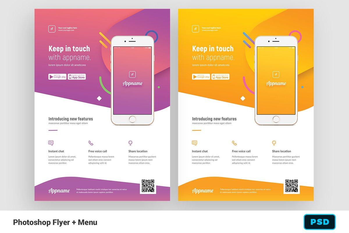 Mobile App Flyer + Instagram