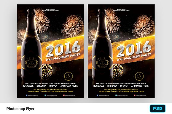 2016 new years eve flyer template flyers