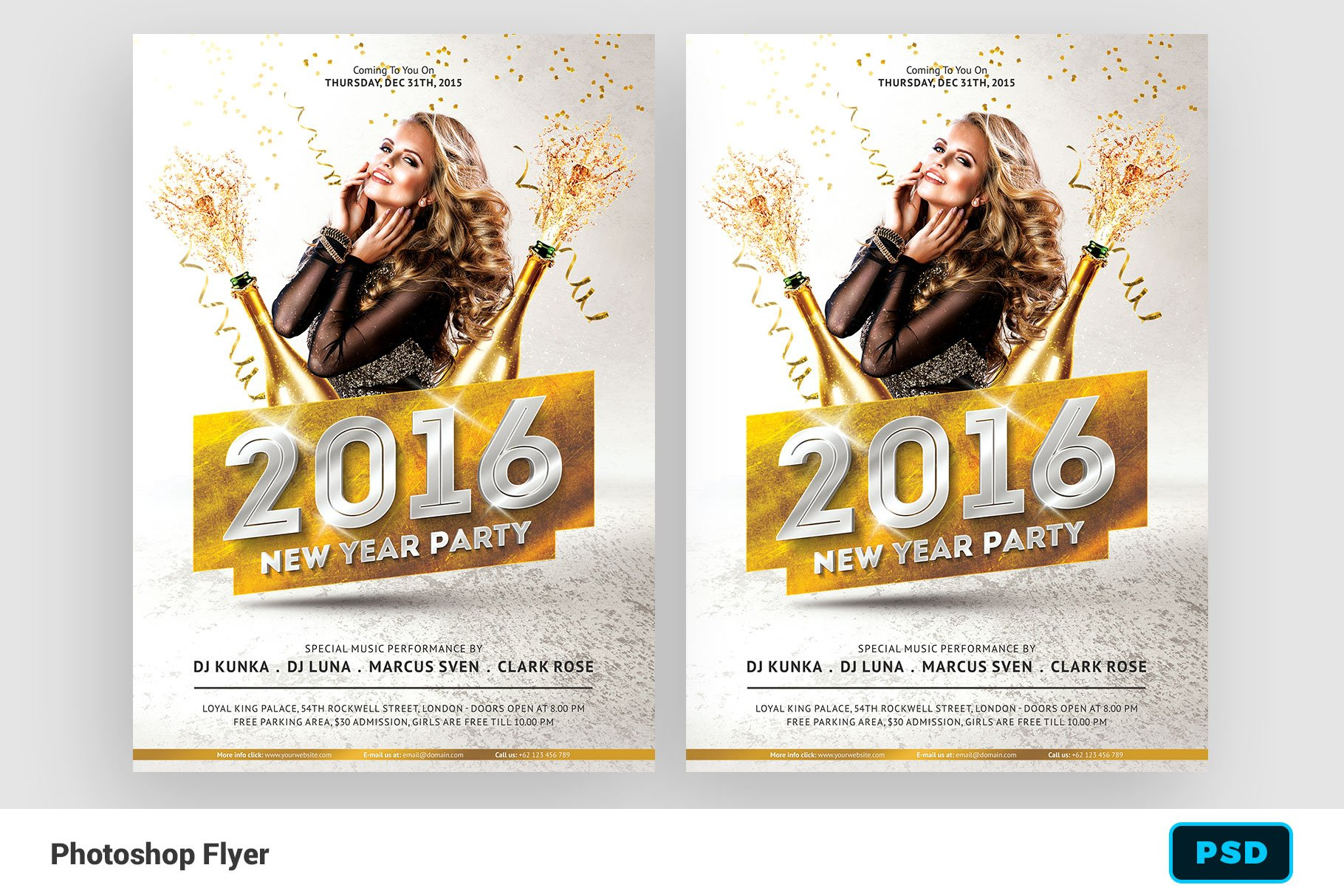 New Year 2016 Party Flyer ~ Flyer Templates ~ Creative Market