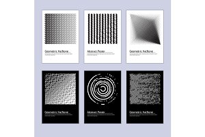 Abstract Halftone Poster Design