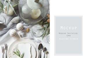 Mockup Wedding Invitation Card