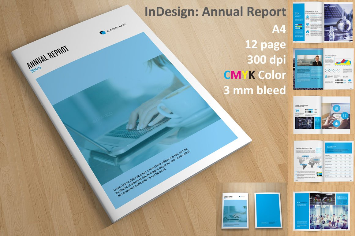 annual report v110 brochure templates creative market