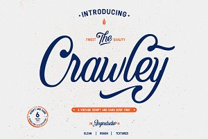 The Crawley (6 font with extras)