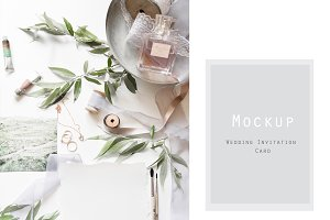 Mockup wedding invitation