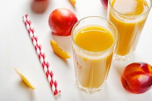 Juice from nectarines