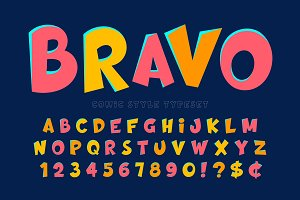 Trendy comical font design