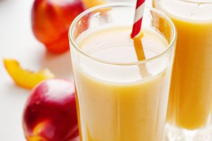 Juice from peaches and nectarines