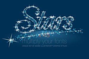 AI CS5 graphic styles shining Stars