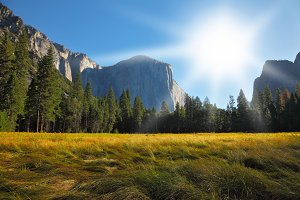 Yosemite park. Sunrise