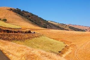 Picturesque hills of California