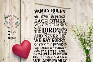 Family Rules Cut File / Printable