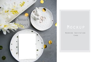 Invitation Mockup Golden Wedding