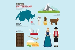 Travel Concept Switzerland Landmark
