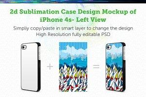 iPhone 4s 2d Sublimation Mock-up