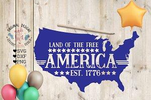 America Est 1776  Cut File and Print