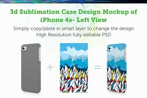 iPhone4s 3d Sublimation Left Mock-up
