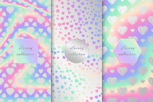 Set of holographic backgrounds with hearts