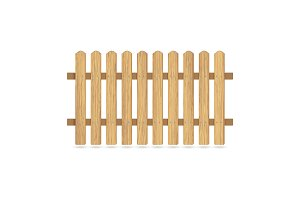Wooden fence with nails