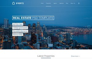 Property - Real Estate PSD Template
