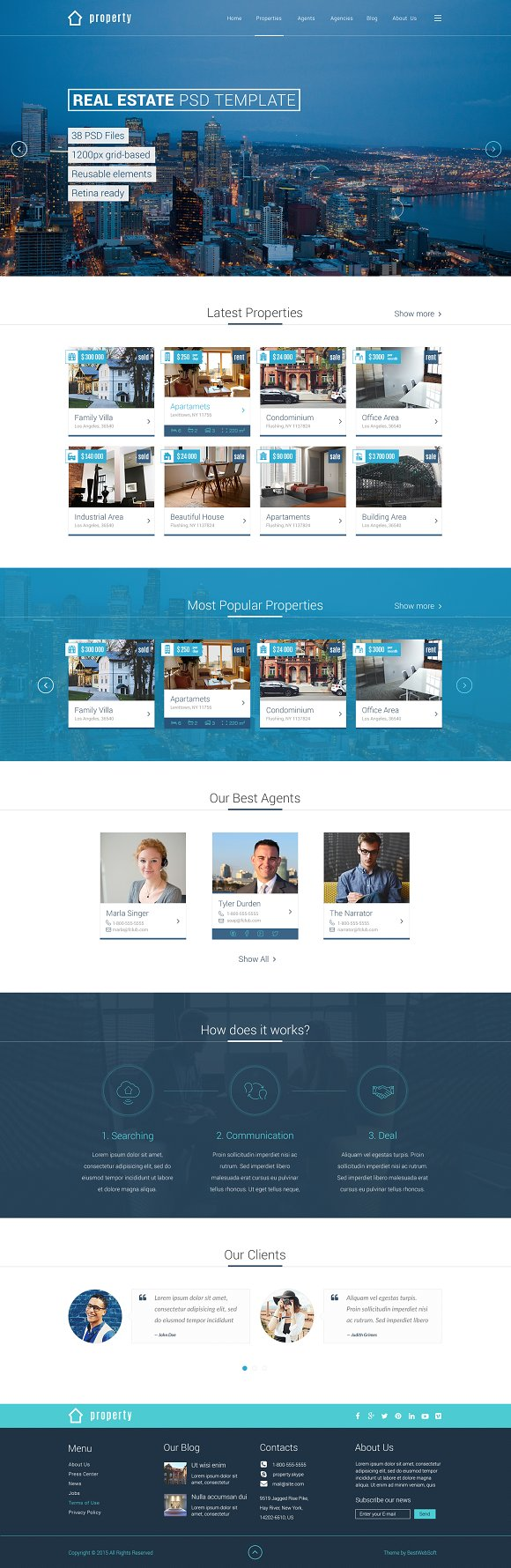 Property real estate psd template website templates - Home design websites free ...