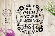 Don't Just Count Your Blessings