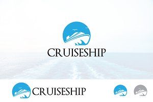 Cruise Ship Sail Ocean Logo