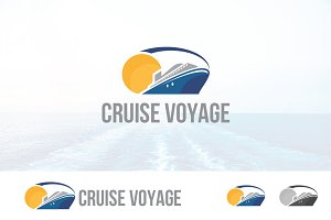 Cruise Ship Sail Sea Logo