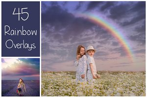 45 Rainbow PS Overlays
