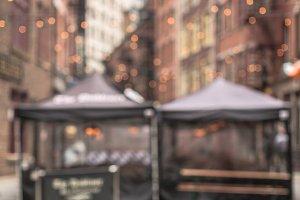 Blurred Manhattan street view