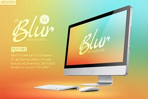25 Blur Backgrounds Pack 1