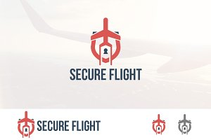Travel Flight Safety Security Logo