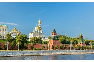 View of Moscow Kremlin above the Moskva river