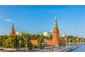Panorama of Moscow Kremlin - Russia